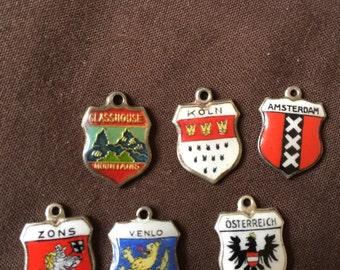 German Austrian Vintage travel charms