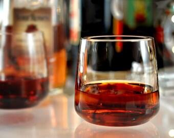Flame Bourbon Glasses-Set of 2 Hand Blown Functional Art Pieces