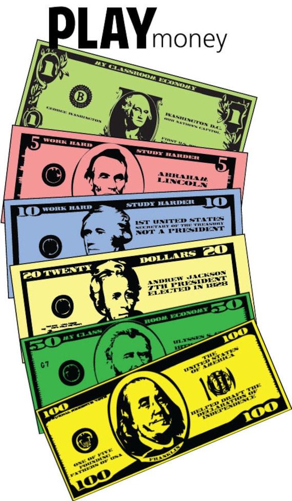 Printable Fake Money: Free Printable Fake Money Template ... |Pretend Money For Classrooms