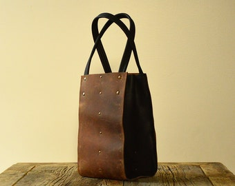 Wine carrier - genuine leather