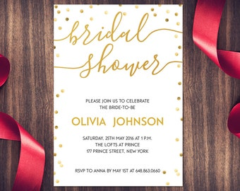 Bridal Shower Invitations Cheap | Etsy