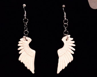Glitter wing polymer clay dangle earrings