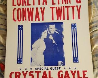 Loretta Lynn  & Conway  Twitty  concert poster