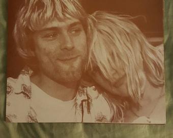 Kurt Cobain  Courtney  Love  11x14 print