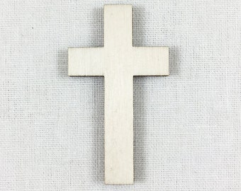 Wood Cross Shape, Unfinished Wood Cross Laser Cut Shape, DIY Craft Supply, Many Size Options