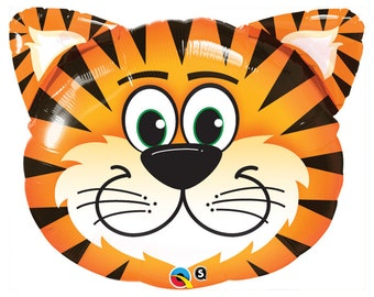 "Tiger Balloon, 30"" Balloon, Circus, Party, Birthday Party, Birthday, Safari, Safari Party, Zoo Party"