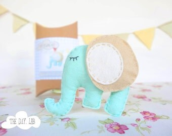 Craft Kit- DIY Craft Kit - Kids Craft Kit- Felt Sewing Kit - Diy Sewing Kit - Diy Kit - Kids Craft - Elephant stuffed animal Sewing pattern