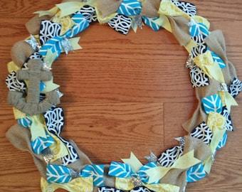 Anchors Aweigh! Ribbon wreath