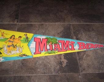 Miami Beach Pennant Banner