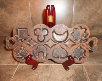 Vintage Cast Iron  Candy/Cookie Mold Made in Columbia