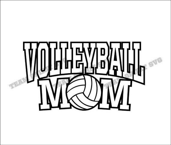Volleyball Mom Sports Download Files Svg Dxf Eps
