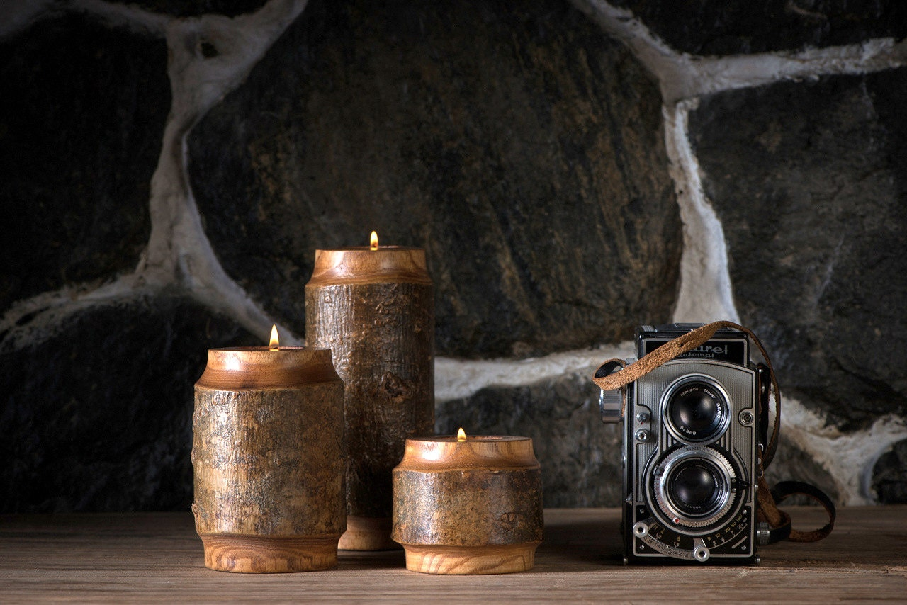 Rustic Candle Holder Fireplace Decor Rustic Home Decor Home