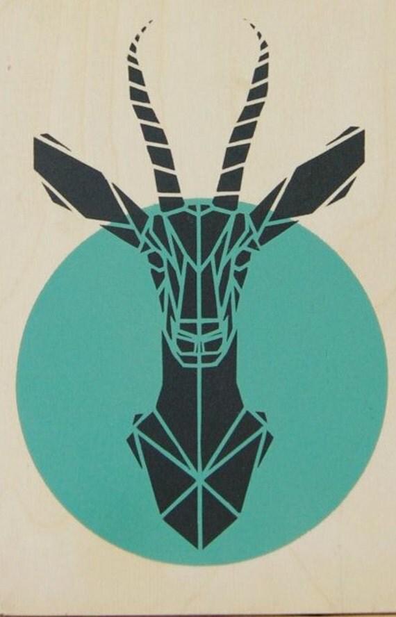 Impala gazelle safari animal wall decoration 2d /Plan Vector