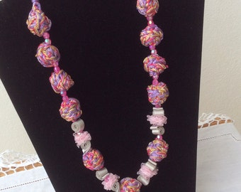 Summer Beaded Wire Necklace