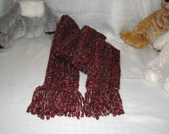 Crochet Scarf Red