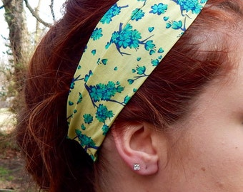 Floral Spring Turban Twist Headband