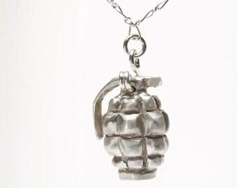 Sterling Silver Grenade