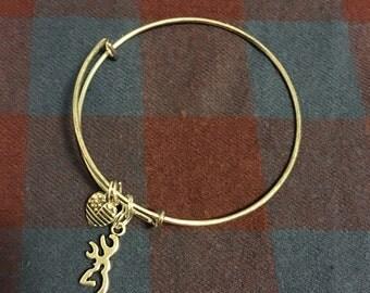 Deer Head Bangle Bracelet