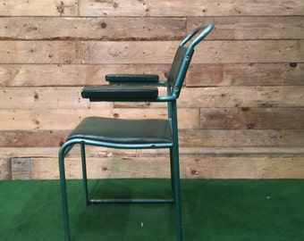 1950s Vintage Tubular Chair with Armrests - Green