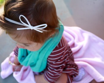 Suede leather bow nylon headband   suede leather bow, nylon headband, bow headband, small bow headband