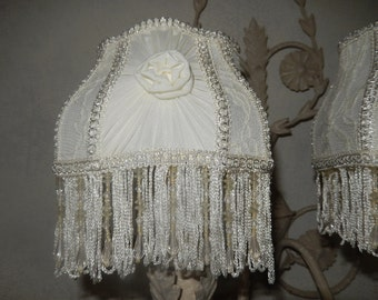 shade with clp for wall lamp shabby style