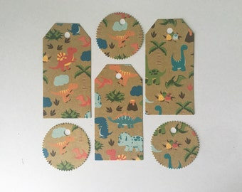 Double Sided Dinosaur Gift Tags x12 (2 designs)