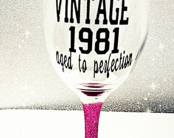 Vintage wine glass