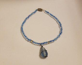 10in blue anklet
