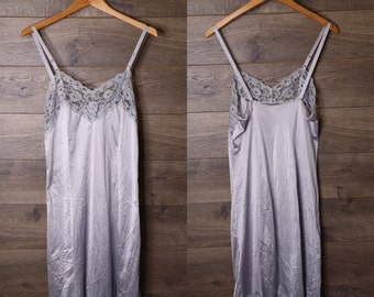 Vintage blue grey slip dress #3