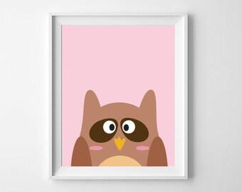 Owl Print | Animal Nursery Print | Nursery, Child's room decor | Digital Download