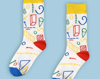 Geek geometric funky socks