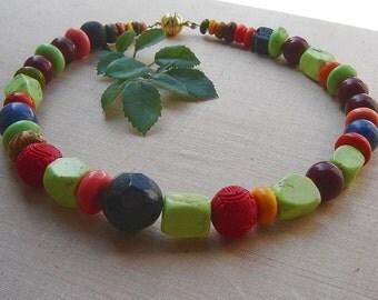 1 necklace - distinctive summer necklace turquoise - multicollor