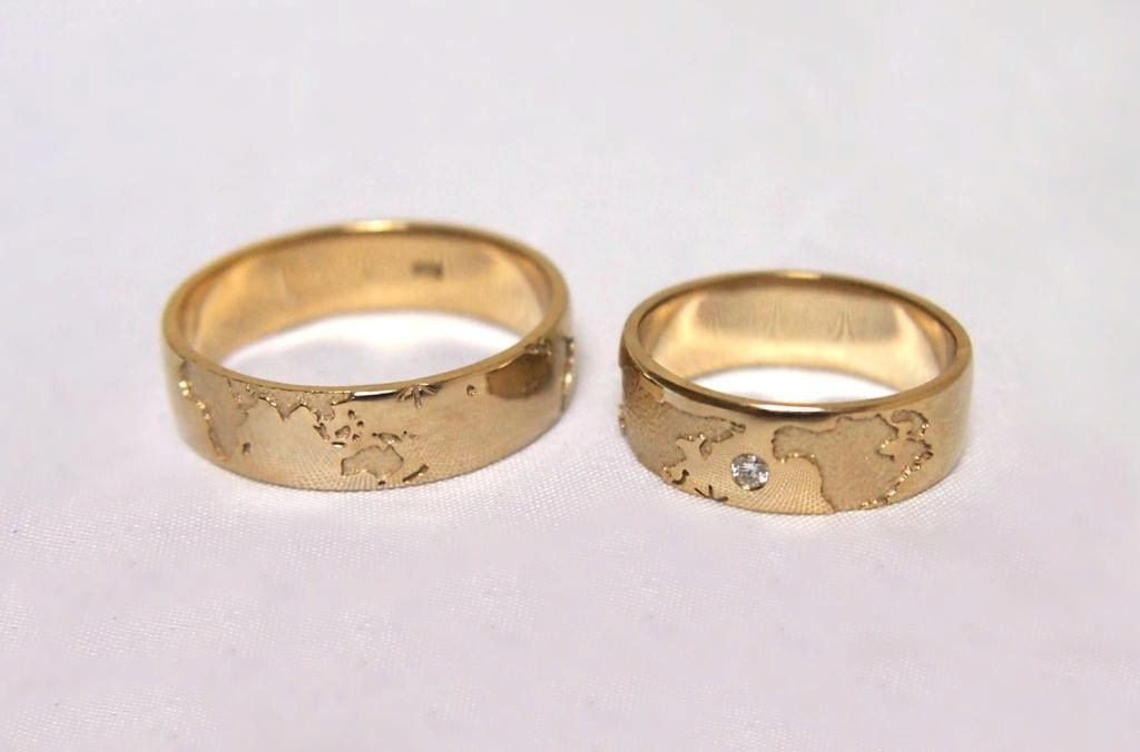 14k Gold Travelers Wedding Bands Unique Wedding Bands Gold