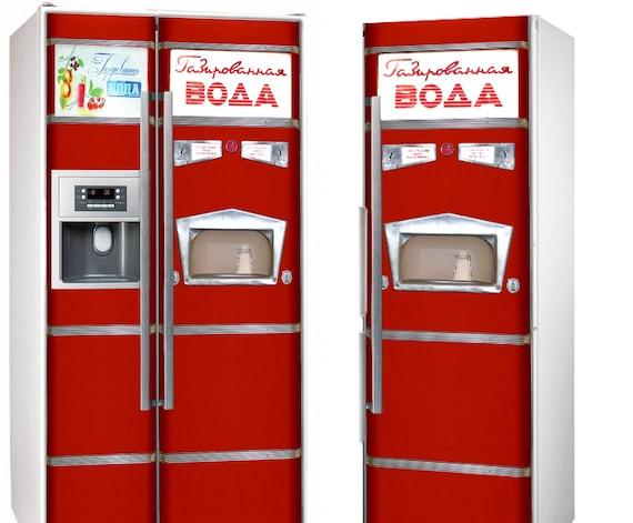 soda machine stickers