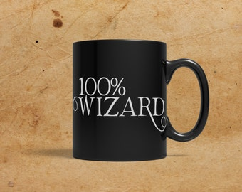 100% Wizard, Black Mug