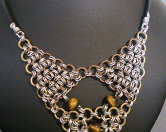 Japanese chain maille necklace