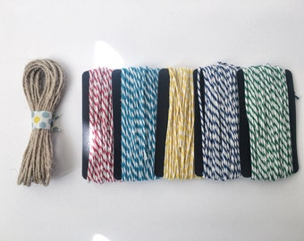 Hemp, Bakers Twine 10m | 6 colours available