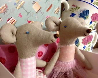 Little mice in Maileg-style, Handmade doll, Textile Doll, Rag-doll, Children Toys, Mice Ballerina