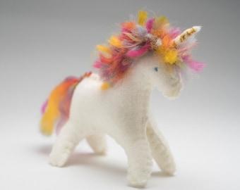 felt Unicorn, felt animals, unicorn doll, Waldorf Horse doll, felt horse, felt pony, baby shower gift, Waldorf doll, Christmas gift ideas