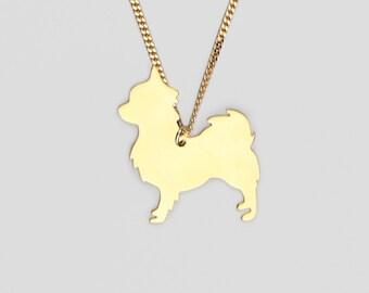 SPITZ L , June In September, golden dog pendant, dog necklace , dog jewelry , dog lover , charm ,