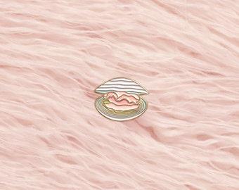 Baby Clam Lapel Pin