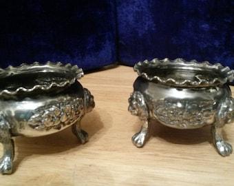 Silver salt pots