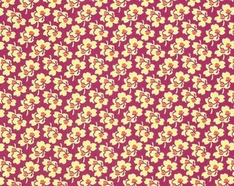 Pansies in Cerise from the Eternal Sunshine Collection by Amy Butler - Cotton Quilting Fabric