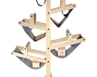 Wooden bookshelf - Tree wooden bookshelf - Modern bookshelf - Folding bookshelf - Office interior - Books storage - Books organizer