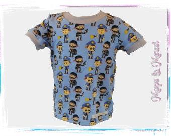 T-shirt wish-size 98 grey blue police