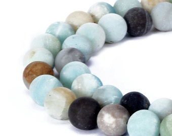 Multi-Color Matte Amazonite round Loose Beads 15.5'' Long Gemstone Beads 4mm/6mm/8mm/10mm/12mm.R-M-AMA-0071