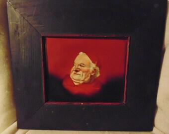 rare warwick pottery art tile monk mission oak frame 2