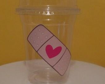 Doc Mcstuffins Inspired Bandage Cup