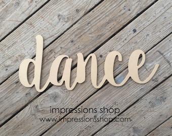 dance wood cutout
