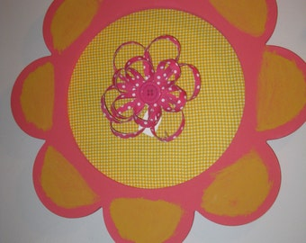 pretty wall or door flower decor